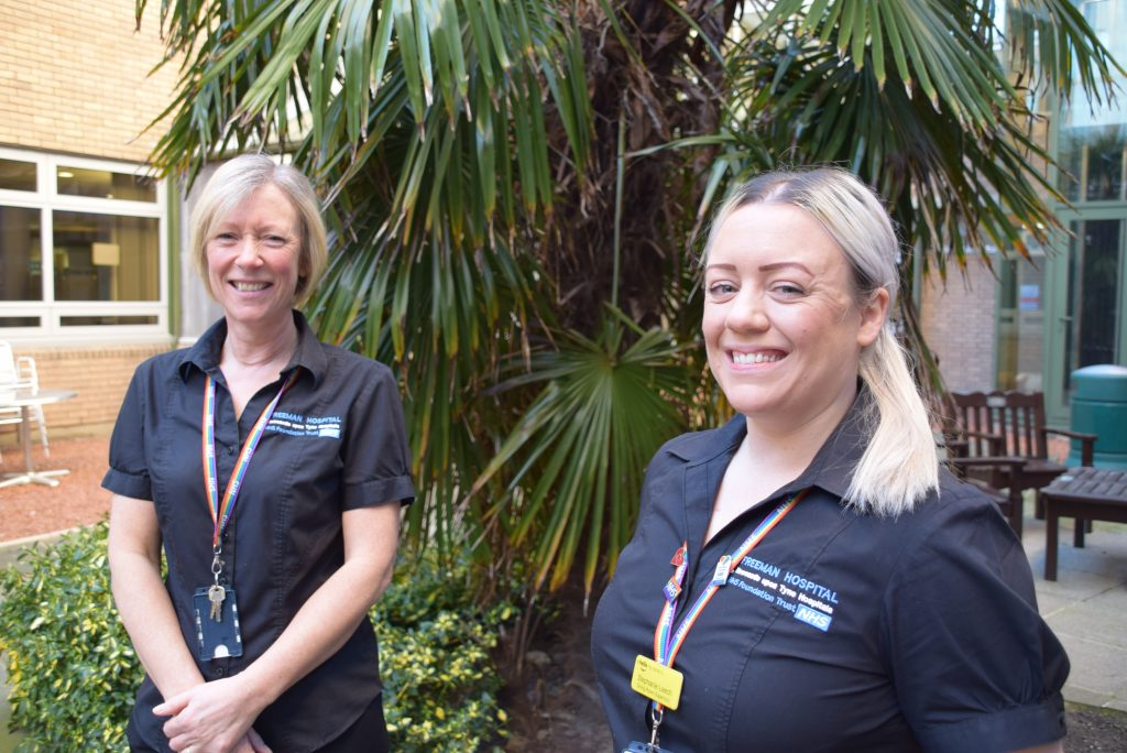 Karen Wilson and daughter Steph Leech who both work as catering supervisors for Newcastle Hospitals
