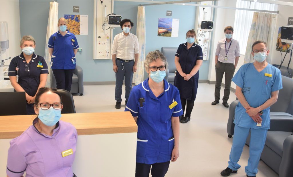 Photo of Cardiology Team on newly modelled Ward 50 at the RVI