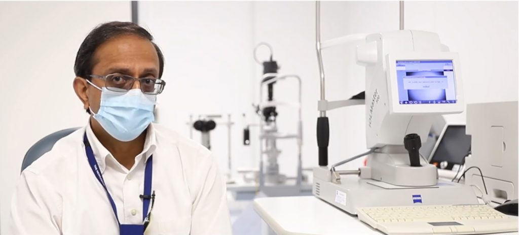 Consultant Ophthalmologist and Clinical Lead, Krishnamoorthy Narayanan