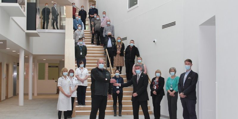 Keys to Northern Centre for Cancer Care North Cumbria are handed over