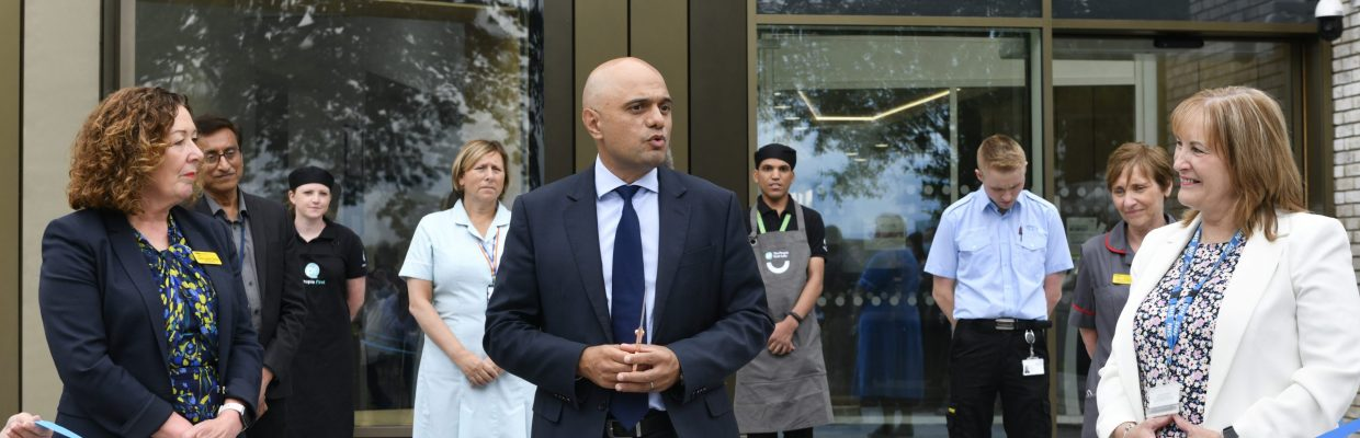 The Secretary of State for Health and Social Care The Rt Hon Sajid Javid visits the new Northern Centre for Cancer Care in Carlisle, Cumbria. The centre has been built within the grounds of The Cumberland Infirmary is a partnership between Newcastle Hospitals NHS Foundation Trust and The North Cumbria Integrated Care NHS Foundation Trust. Mr Javid toured the facility where he met with patients and staff before cutting a ribbon to open the centre. Dame Jackie Daniel (left) with Mr Javid and Lyn Simpson: 19 August 2021 Stuart Walker Copyright Stuart Walker Photography 2021