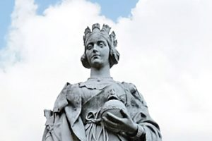 Queen Victoria statue at the Royal Victoria Infirmary
